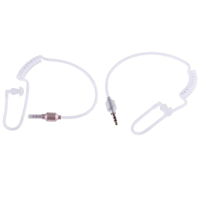 Monaural 3.5mm Headphone Air Tube In Ear Anti-radiation Earphone Stereo Headset for Wireless Bluetooth Clip Device