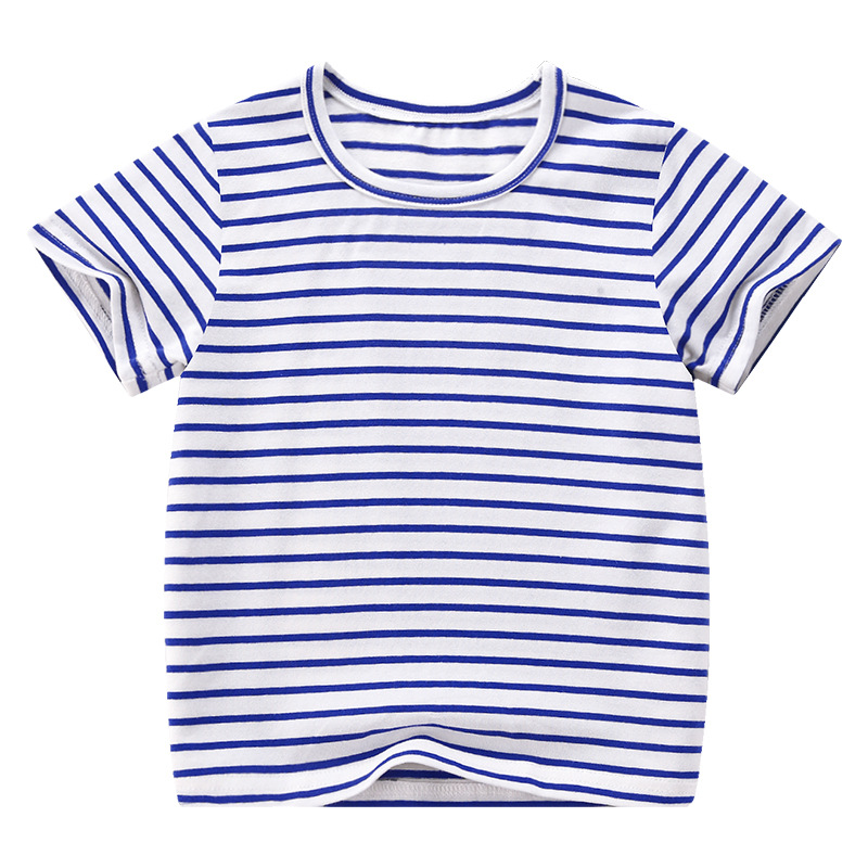 VIDMID Boy Girl Tee Solid Color t-shirts Baby Boys Girl T-shirts Summer striped Short Sleeve Kids Tees Children Clothing 7042 06 4