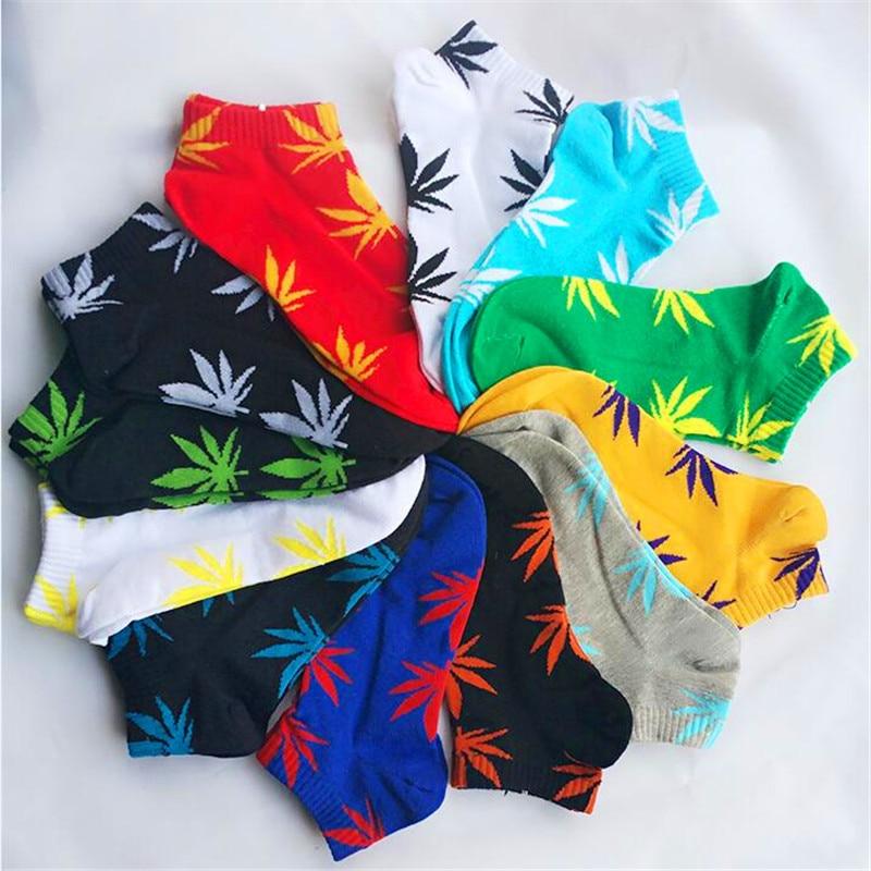 Hot Sale!socks Men Cotton Spring Summer And Autumn Fashion Men's Funny Black Short Sock Male Comfortable Breathable Weed Socks