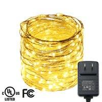 15 M 300LED Bạc Wire Ghi Chép Multicolor LED Trang Trí Dây Lights Ngoài Trời Đèn Giáng Sinh Cổ Tích + Chứng Nhận UL/CE Adapter