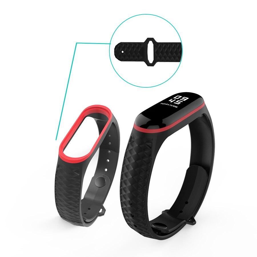 Mijobs Mi Band 3 Strap Silicone Aurora Sport Strap For Xiaomi Mi Band 3 Bracelet Correa Miband 3 Wristbands Replace Wrist Strap