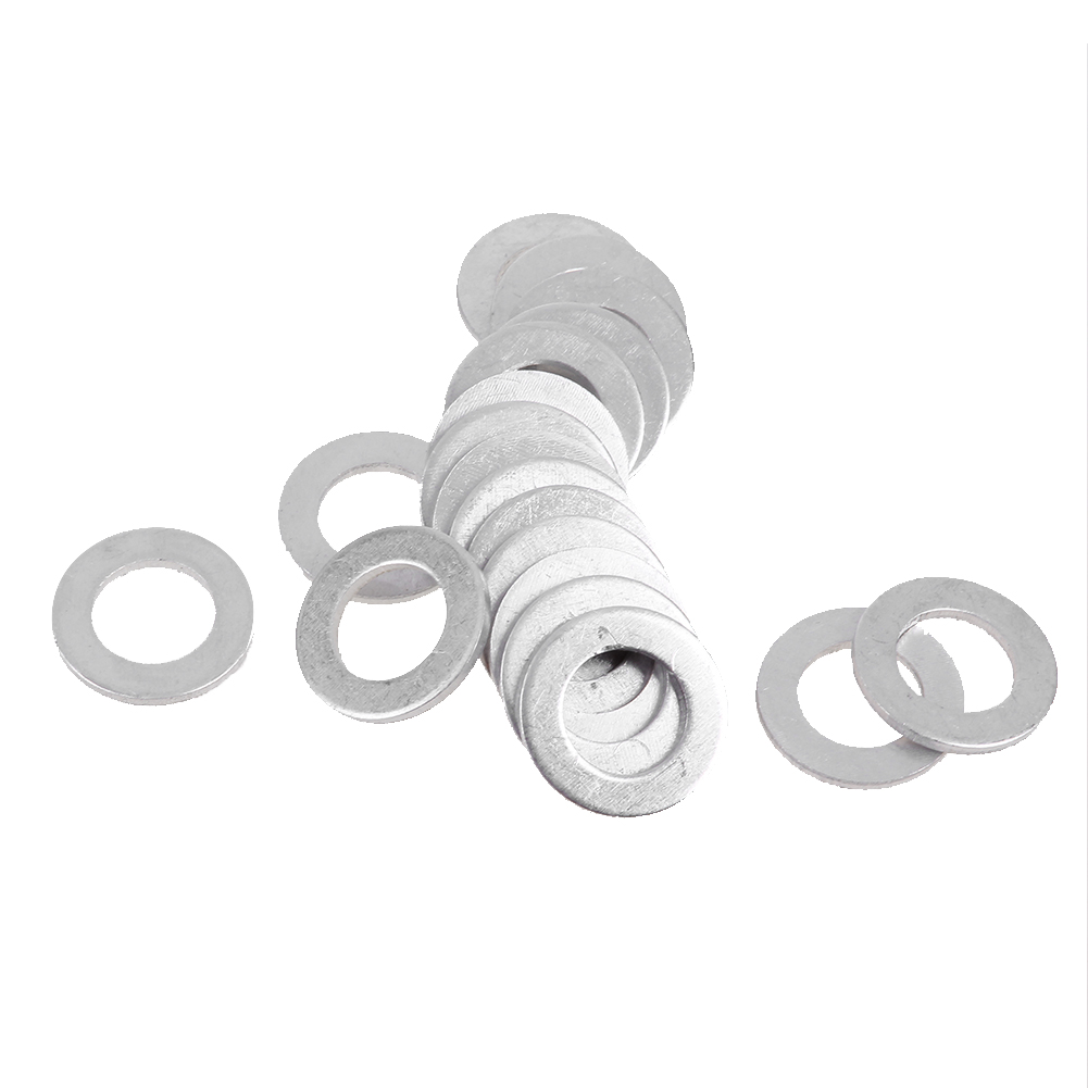 Brand New Premium Aluminum Oil Drain Plug Washers; Crush washers designed  for a solid seal;