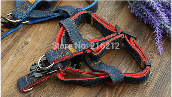 Adjustable Jean Rope Pet Dog Puppy Cat Lead Leash Harness Walking Chest Strap