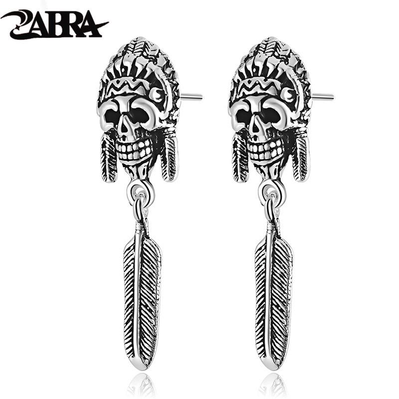 ZABRA 925 Sterling Silver Earrings For Men Indian Vintage ...