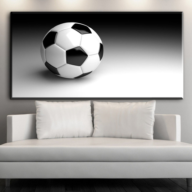 ZZ2119 black and white canvas wall art football canvas pictures oil ...