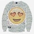 Harajuku men/women 3D sweatshirt print smile faces emoji sweatshirts long sleeve cartoon hoodies autumn tops