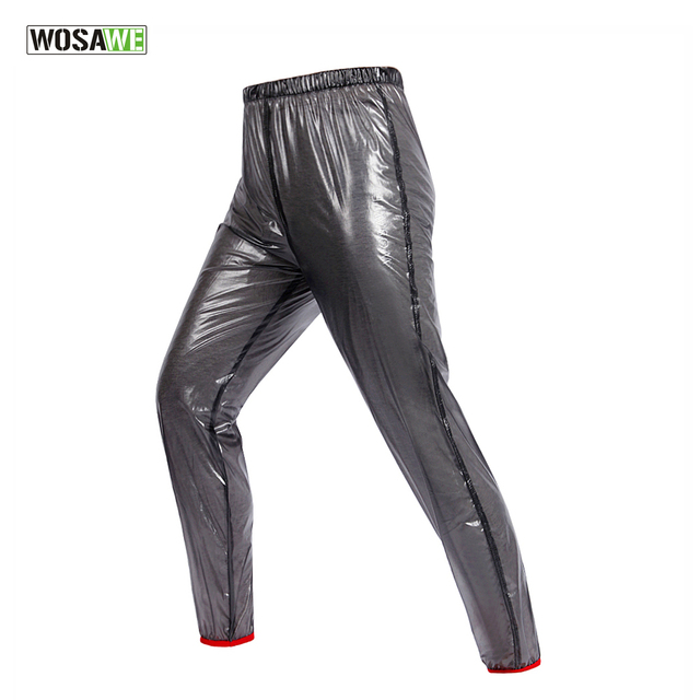 cb93a526484 WOSAWE Outdoor Sports Rain Pants Cycling Bike Bicycle Running Waterproof  Windproof Pants Trousers 4 Colors