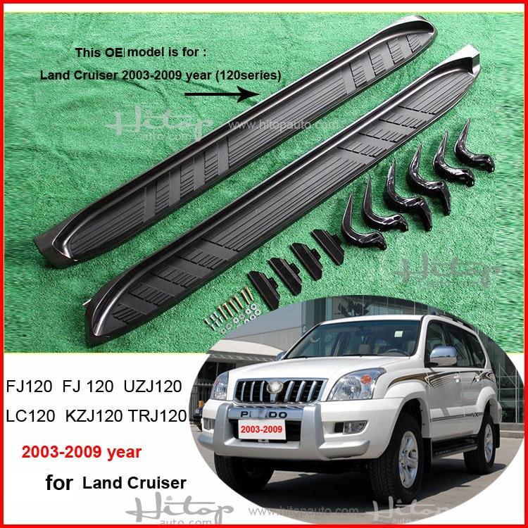 hot side step nerf bar løbebord til Toyota Land Cruiser Prado 120 - Bilreservedele - Foto 5