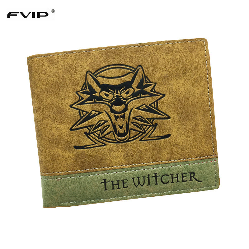 FVIP Top Quality Men Wallet Game The Witcher/ Overwatch/ Strak/ Death Note Wallets With Coin Pocket Dollar Price