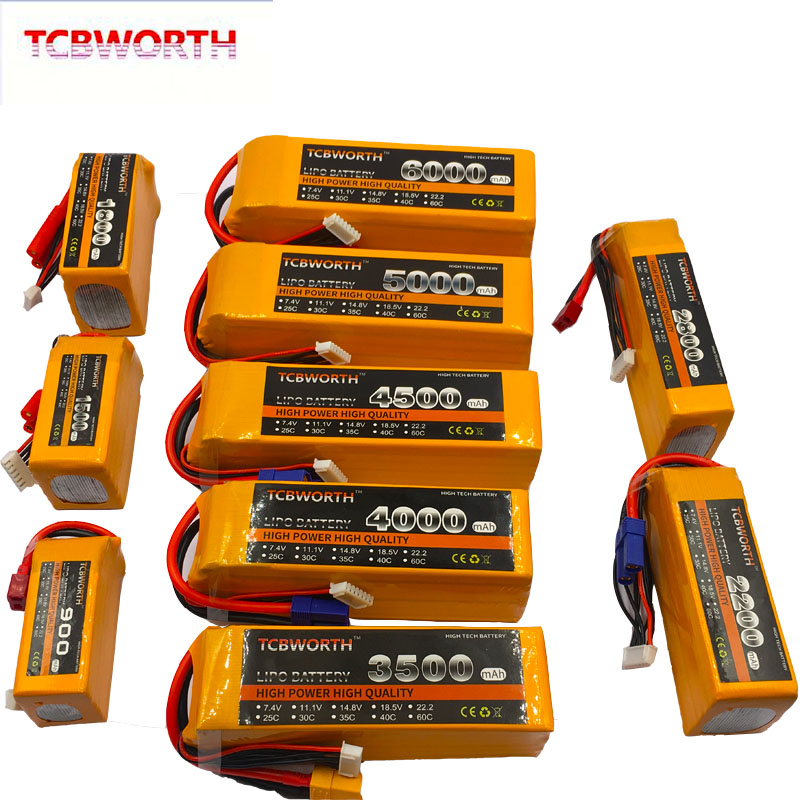 RC Quadrotor <font><b>LiPo</b></font> Battery <font><b>6S</b></font> 22.2V 1100mAh <font><b>2200mAh</b></font> 2800mAh 3300mAh4000mAh5000mAh 25C35C For RC Airplane Drone Helicopter Car Toy image