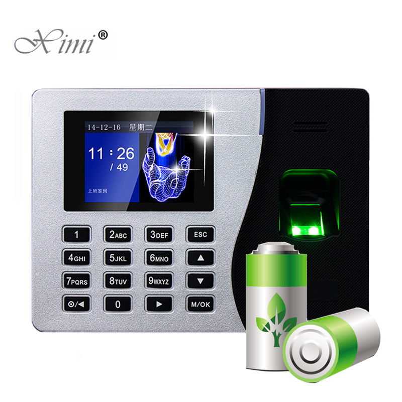 Linux System Biometric Fingerprint Time Attendance ZK ST300 Time Recorder Fingerprint Time Clock With Built-in Battery K14