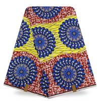 Atest African Fabric 6 Yards Nigerian Ankara African Wax Cotton Fabric Super Wax Hollandais 2017 African