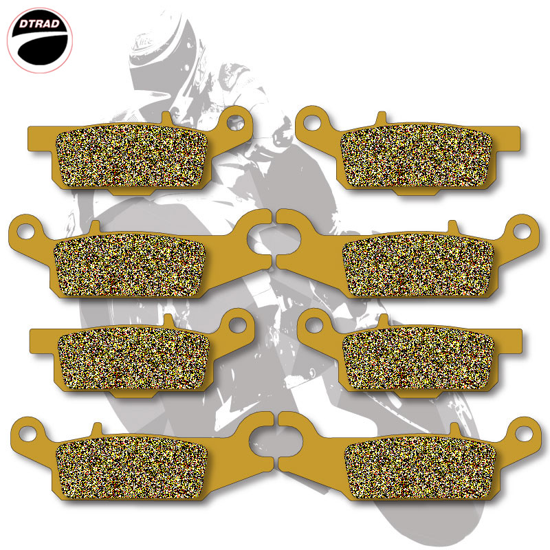 Motorcycle Brake Pads Front+Rear For YAMAHA ATV GRIZZLY 550 2009-2012 700 2007-2012 Ducks Unlimited Ed YFM 700 07-09