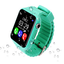 "Unique Safety Anti misplaced GPS Tracker Waterproof Good Watch V7K 1.54"" Display With Digital camera Child SOS Emergency For IOS&Android"