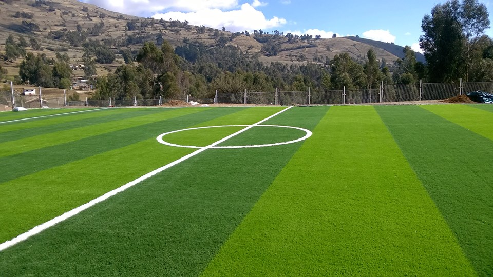 Synthetic Grass For Soccer Field / Football Player