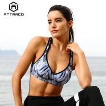 Attraco Women Sports Bra Med Impact Support Backcross Yoga Bra Running Workout B