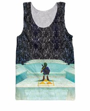 RuiYi Legend of Zelda Great Fairy Fountain Tank Top 8bit video game print 3d summer style vest tees cartoon jersey Men