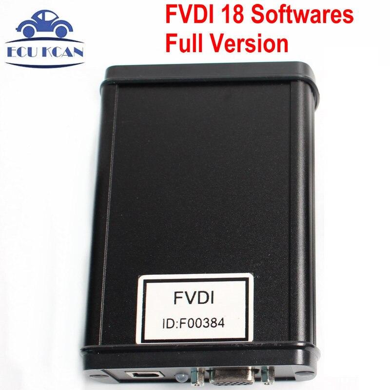 Цена за FVDI полный командующий с 18 Программное обеспечение FVDI автомобиля диагностический Интерфейс FVDI диагностический инструмент FVDI автомобильной сканера