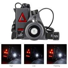 1baa3195252 Sport en plein air En Cours D exécution Allume 8 Rouge Led Nuit Lampe De  Poche Voyants USB Rechargeable Poitrine Lampe Blanc Lum.