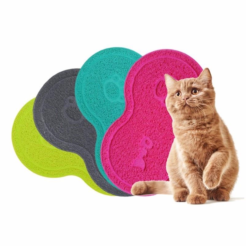 Új színes kisállat kutya kiskutya macska etetés matrac párna aranyos PVC ágy edény étel víz táplálék elhelyezés törölje tiszta