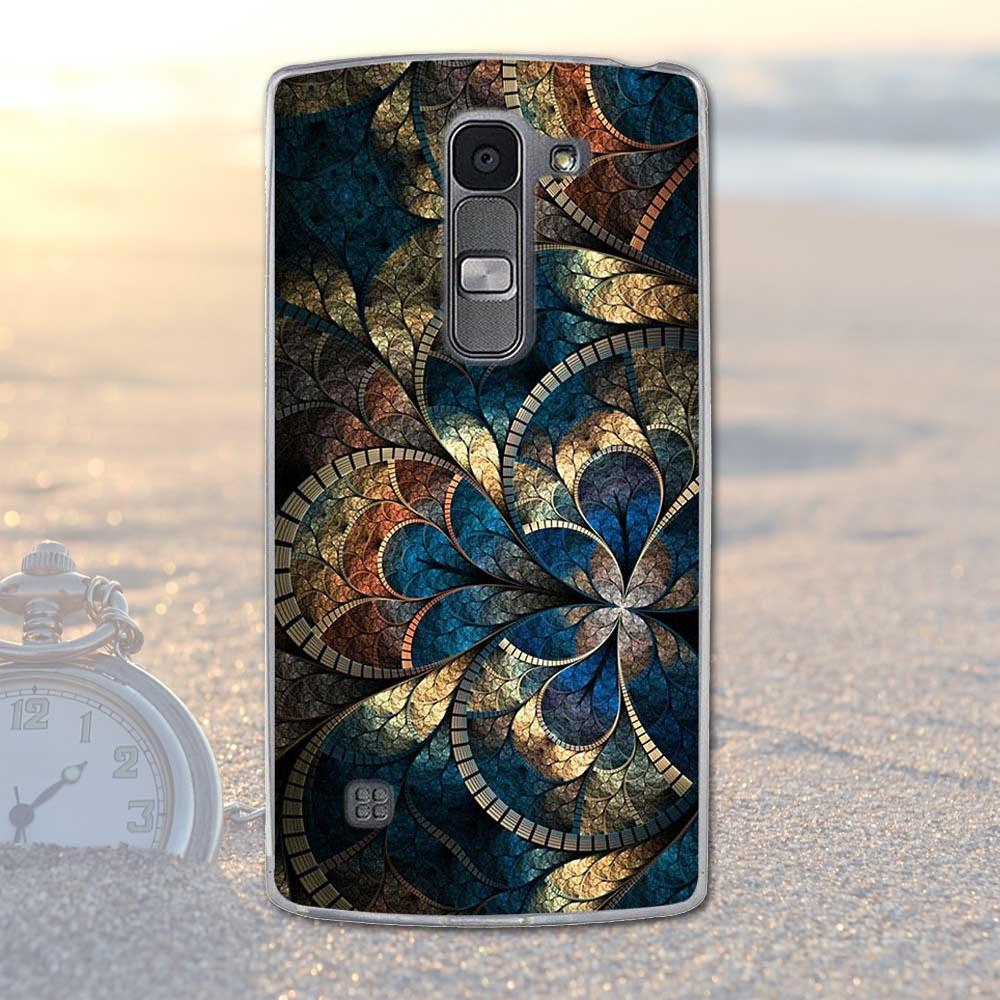 Fundas telefon case pokrywa dla lg spirit 4g lte h440y h422 h440n h420 miękka tpu kwiaty zwierzęta dekoracje telefon pokrywa dla lg duch 20