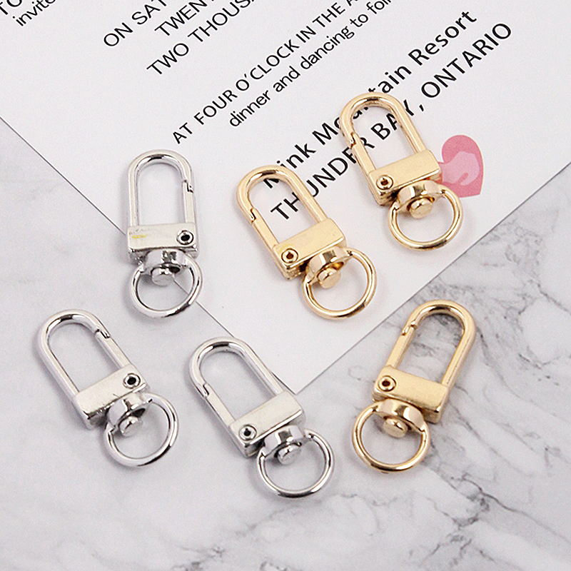 5pcs Silver Gold Key Chain Ring Metal Lobster Clasp Clips Bag Car Keychain DIY Decor Key Hooks Hook Up Base Jewelry Findings(China)