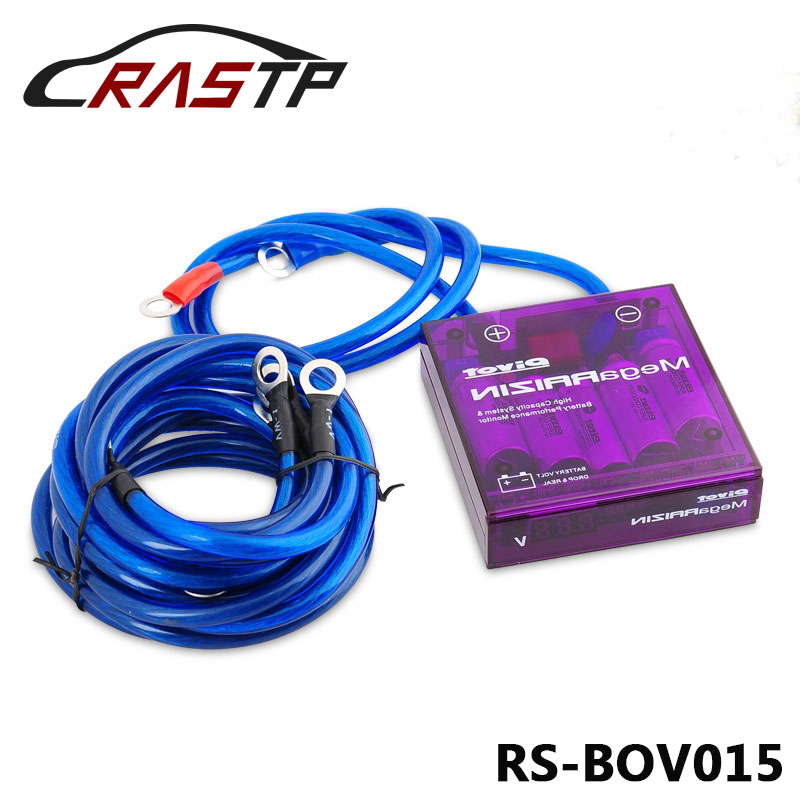 RASTP-Universal Mega RAIZIN Volt Stabilizer/With 5 Ground Wires And LED Display RS-BOV015