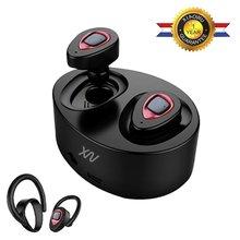 On sale K5 In-Ear Sport Earphones Wireless Bluetooth Headset Twins Stereo Built-In Mic and Charging Box Ear Hook for xiaomi huawei phone