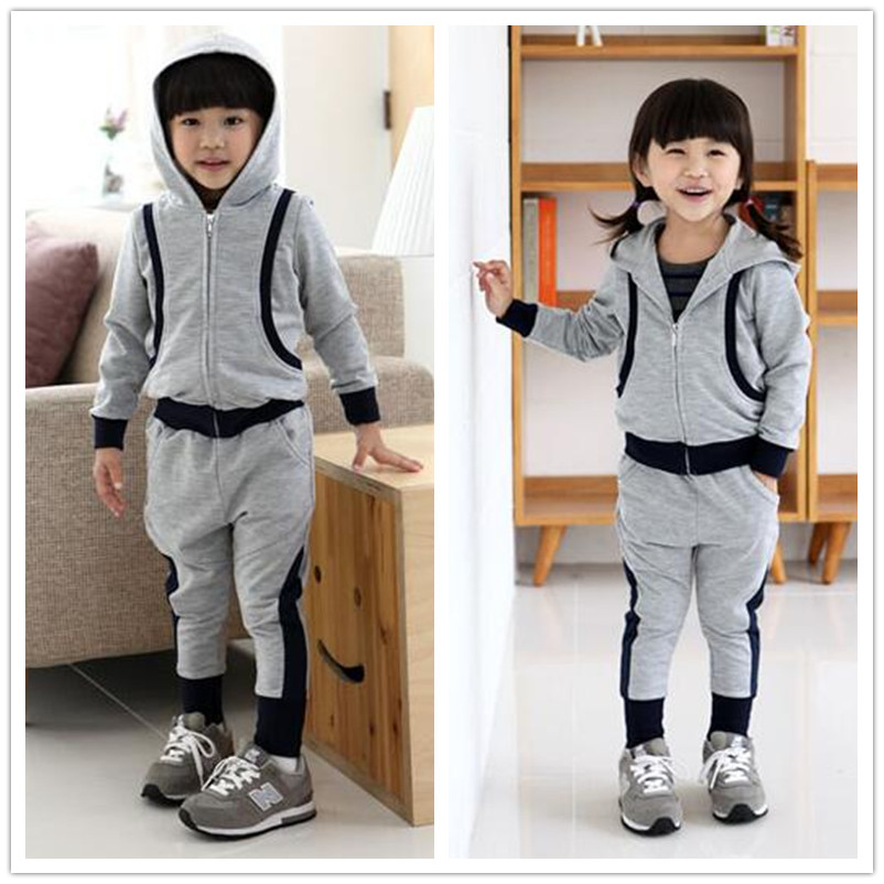 kids  suits twinset spring Autumn clothing set Boys Girls Grey Blue patchwork star hooded sweatshirt & dance Hip Hop harem pants цена 2017