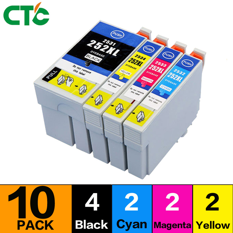 10PCS 2711 2701 compatible ink Cartridge for WorkForce WF7110 wf7610 wf7620 wf3620 wf3620 wf3640 WF-7710 printer 27 27XL