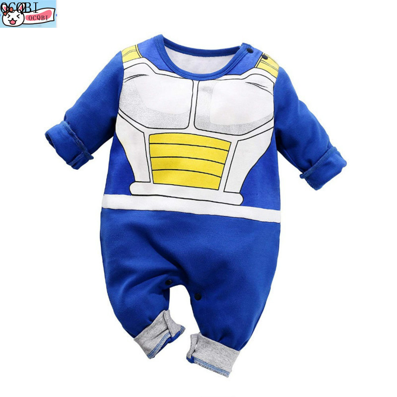 OCQBI Baby Clothes Newborn baby   Rompers   Baby Lovely Long Sleeve Cartoon armor baby Clothing