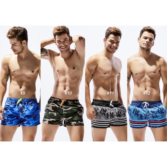 New Men's Board Shorts print Quick Drying Shorts Beach Summer Beach Short Pants fashion 16 Color Choice
