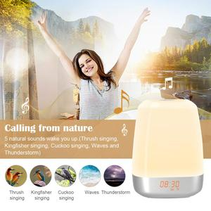 Image 3 - Hot Wake Up Light Alarm Clock  Press Control Multicolor Dimmable, Sunrise Simulation Digital Led Clock With Heavy Sleepers