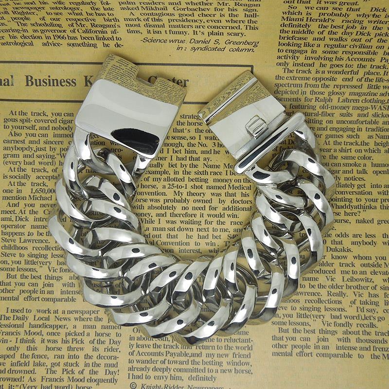 New design cool party Punk men boy Silver bracelet hand chain for ...