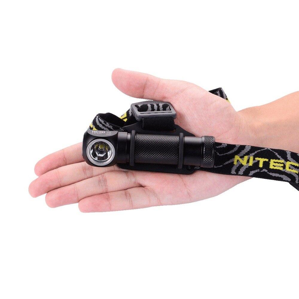 Livraison gratuite NITECORE HC30 HC30W lampe frontale blanche neutre 1000 Lumen lampe de poche étanche Camping sans batterie 18650