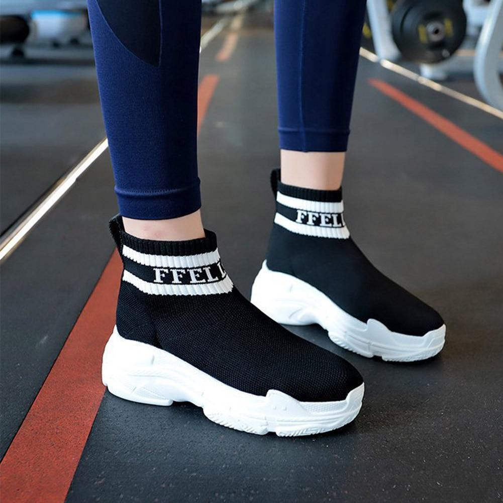 À Stretch Chaussettes Rond Rouge Plat Nouveau Tissu Élastique Pour Fond Femmes Casual Respirant 2018 blanc Chaussures EIxBvFvq
