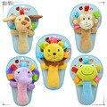 FULL TRUCKING POST 5pcs/set infant animal hand bell baby Rattles plush stuffed toy children mobiles sound educational handbell