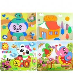 Шт. 1 шт. EVA трехмерные наклейки Детские ручные наклейки Детские пазлы-головоломки родитель-ребенок производство детский сад Арт-класс