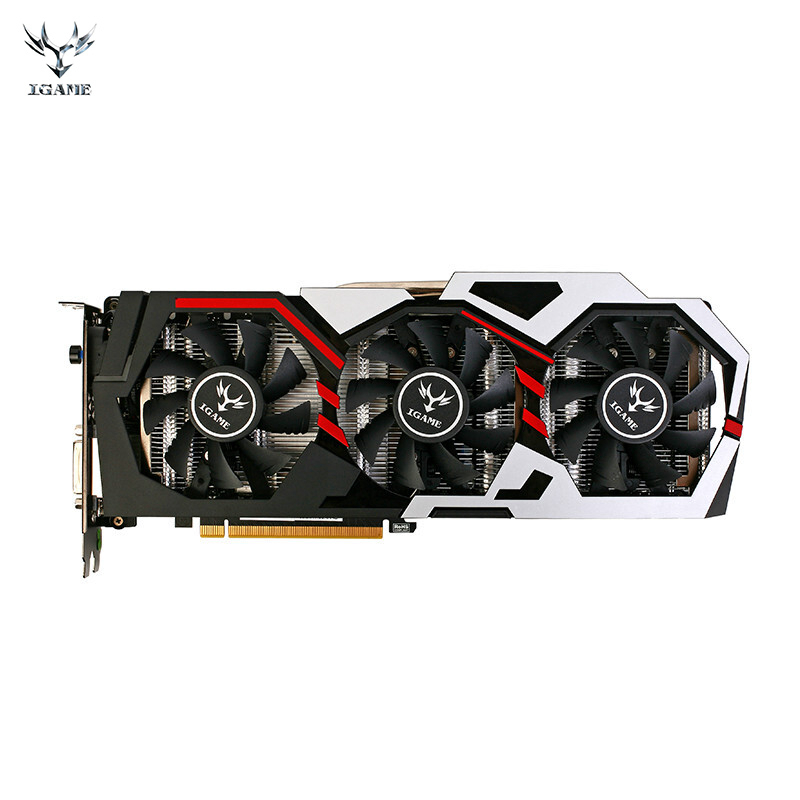 Красочные GPU iGame GTX1080 имир U 8GD5X Топ графическая карта GDDR5X pci-e X16 3.0 видеокарта DVI + 2 * HDMI + 2 * DP порт для 1080 8GD5