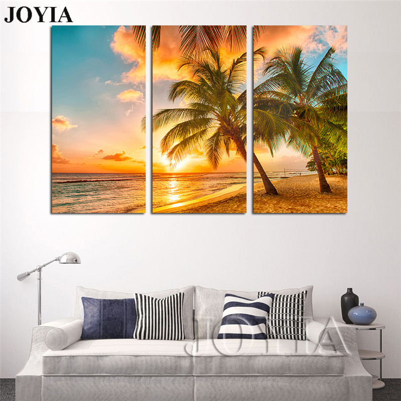 Beach Painting Picture Triple Paintings For Living Room