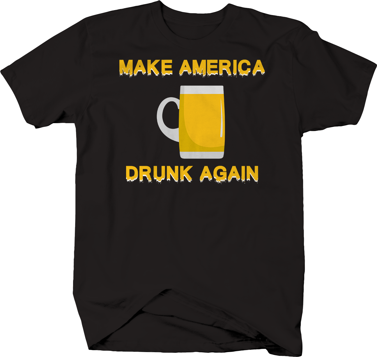 Make America Drunk Again Beer Drinking Trump College T-Shirt Men's Funny Tees image