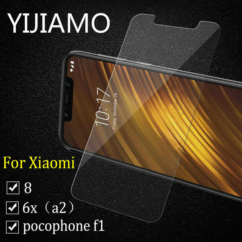 for pocophone f1 tempered glass protective glass for Xiaomi A2 A1 mi6 mi8 Mi 8 se screen protector Glass Poco f1 for MiA2 lite