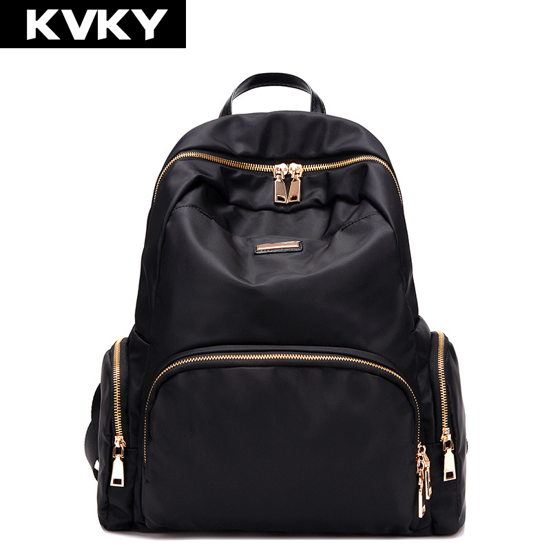 KVKY 2017 Women Backpacks Waterproof Nylon Student School Bags Girl Backpacks Female Casual Travel Bag Ladies mochila feminina