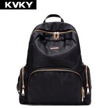 Kvky 2017 mujeres mochilas de nylon impermeable bolsos de escuela del estudiante chica mochilas bolsa de viaje ocasional femenina señoras mochila feminina