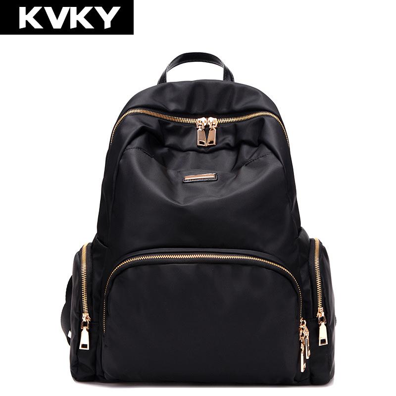 Prix pour Kvky 2017 femmes sacs à dos en nylon imperméable étudiant école sacs fille sacs à dos femme casual voyage sac dames mochila feminina