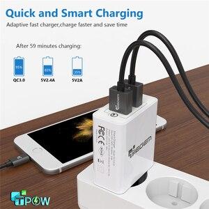 Image 3 - TIEGEM 30 wát Sạc Nhanh 3.0 USB Tường Adapter Sạc EU MỸ Cắm Phổ Sạc Du Lịch Điện Thoại Di Động Sạc cho samsung iphone