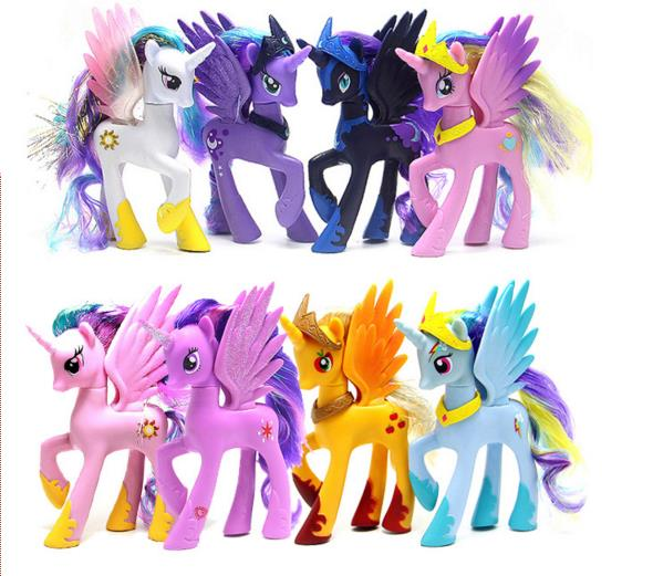 1pcs Arrival14cm My Anime Toy Collection Princess Celestia Luna Nightmare Night Little Cute Unicorn Rarity Kunai Horse Toys 16pcs set 4 6cm little pvc action toy figures horse princess celestia christmas gift for kids toys