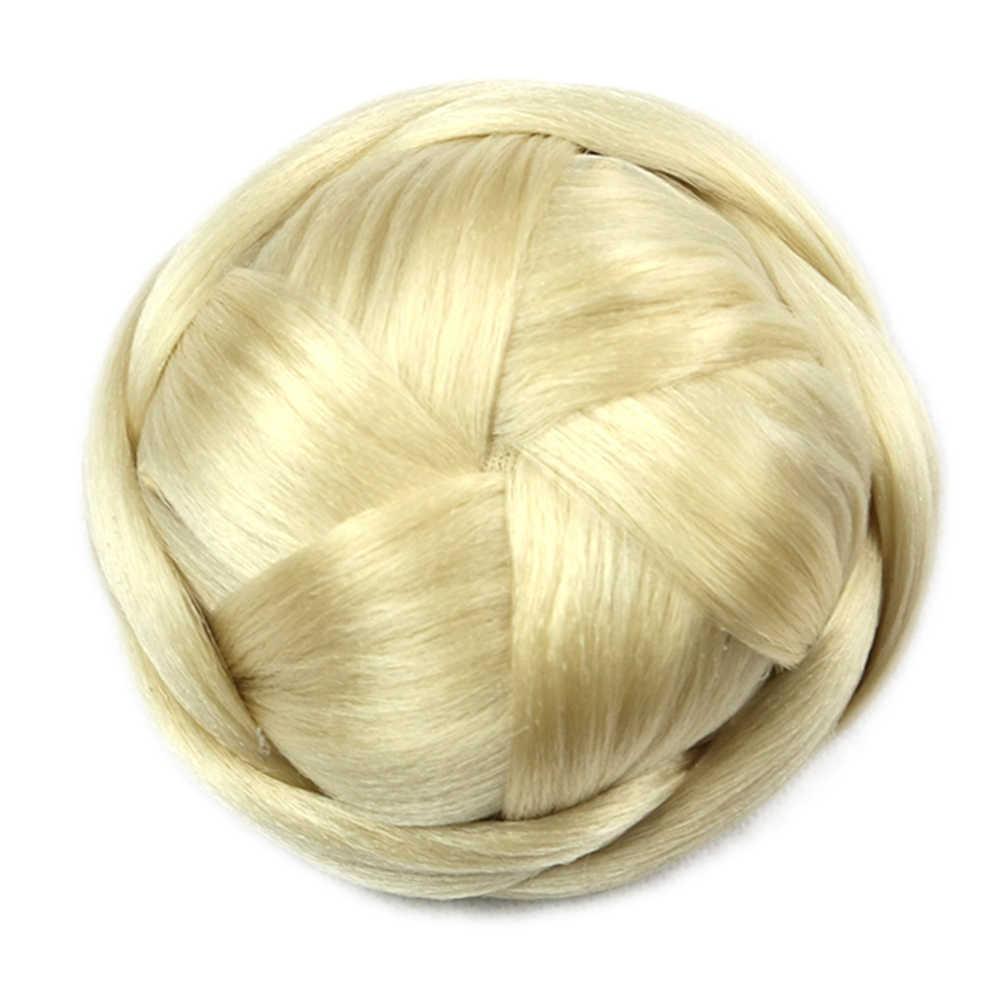 Soowee 6 цветов Высокая Температура Волокно Синтетические волосы клип в Плетеный Chignon чёрный; коричневый пучок волос Для женщин Donut ролика шиньоны