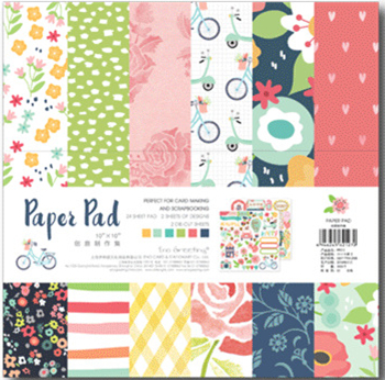 25.5*25.5cm Scrapbooking paper pack of 24 sheets handmade craft paper craft Background pad PP013 craft