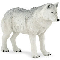 Papo wild animal plastic model of the Polar wolf infant doll toy decoration